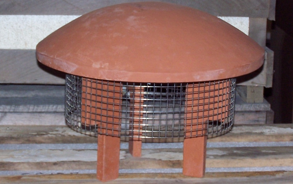 Round Rain guard with optional fire screen